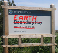 Boundary Bay Park Entrance Sign