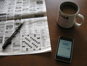 Crossword and coffee