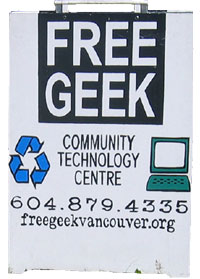 Free Geek Sandwich Sign
