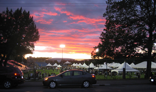 Sunset at Beer Fest