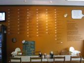 The menu wall