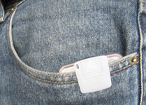 Pedometer in pocket
