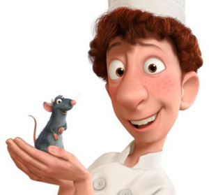 Remy and Linguini from Ratatouille