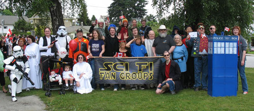 SciFi/Fantasy Fans at North Vancouver Canada Day Parade