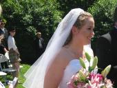 The bride passes