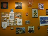 Bulletin board and 70's cheese wall