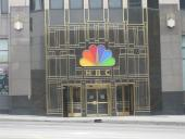 The NBC building is just around the block